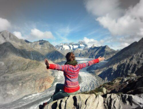 Kraftort am Aletsch Gletscher
